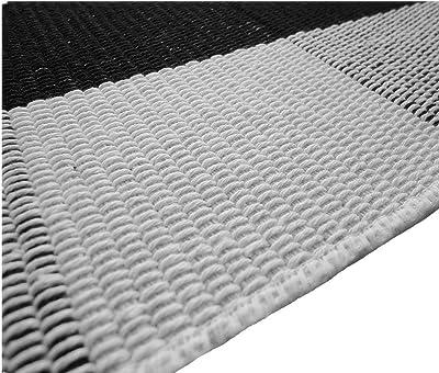 Levinis - Alfombra a Cuadros, Color Blanco y Negro, Negro/Blanco, 23.6'' x 51.2''