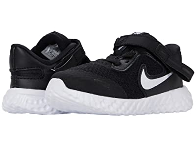 Nike Kids Flyease Revolution 5 (Infant/Toddler) (Black/White) Kid