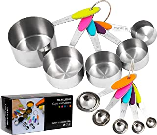 Measuring Cups and Measuring Spoons Set, 10 Pieces