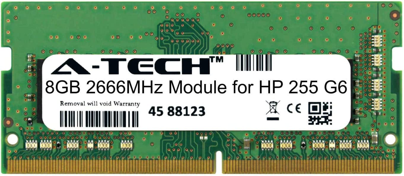A-Tech 8GB Module for HP 255 Laptop Notebook DDR 67% OFF of fixed price Large discharge sale G6 Compatible
