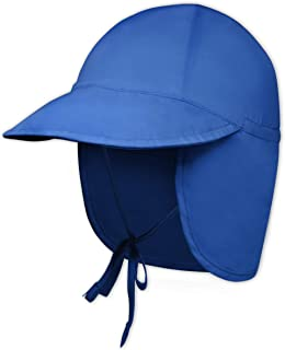 Kids Sun Hat for Toddler, Baby, Infant Boys & Girls - Beach Swim Hat - UV Protection Bucket Summer Cap with Flap - UPF 50+