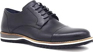Luciano Bellini Hakiki Deri Soft Eva Siyah Erkek Ayakkabı E407