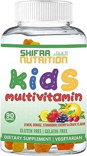 SHIFAA NUTRITION Halal & Vegetarian Gummy Vitamins For kids | 13 Vitamins, Minerals & Antioxidants for Children | Natural ...