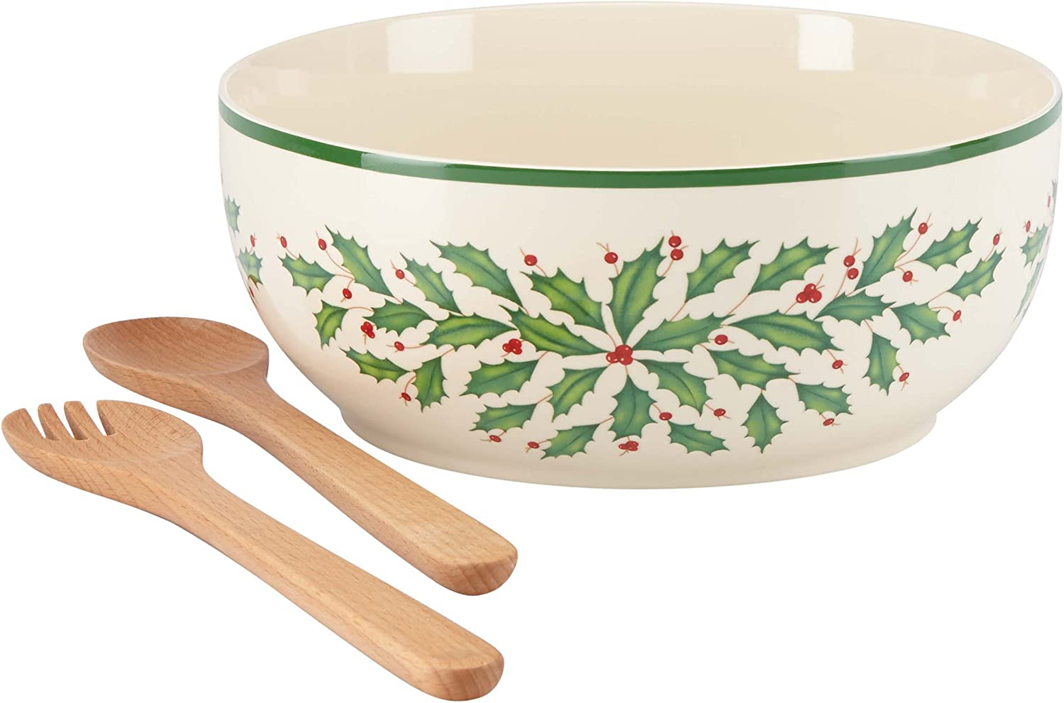 Lenox New New color product type Holiday Salad Bowl and Servers