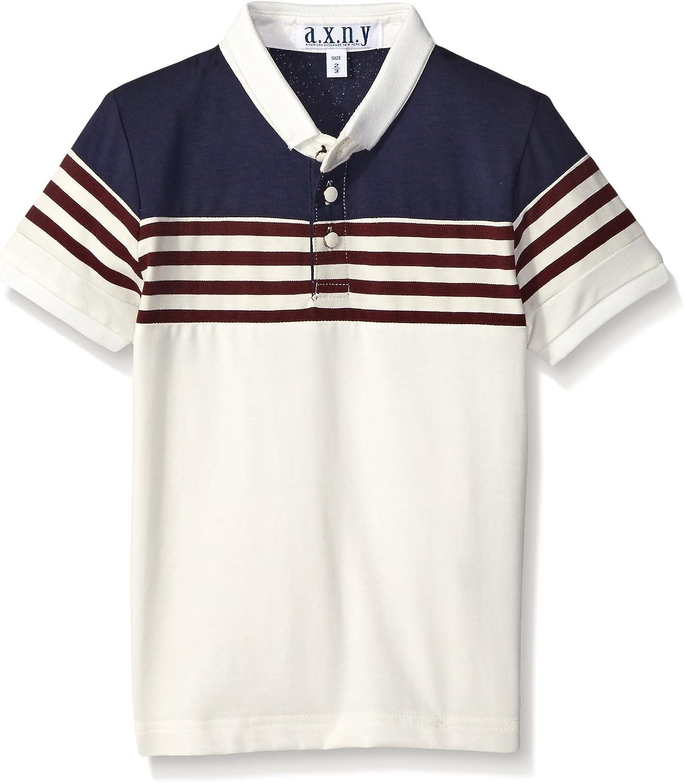 AXNY a.x.n.y Boys' Stripe Color Block Polo