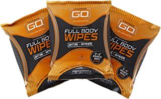 HyperGo: Full Body Wipes - Body Cleansing Wipes - 20 Wipes (Pack of 3) - Clean Off Odor and Sweat - Refresh and Moisturize Skin - All Natural Ingredients - Unscented