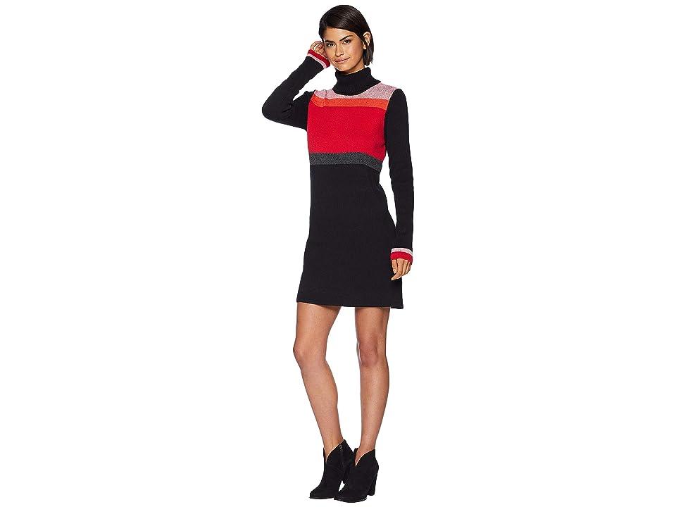 Free People Winter Break Sweater Mini Dress (Black) Women
