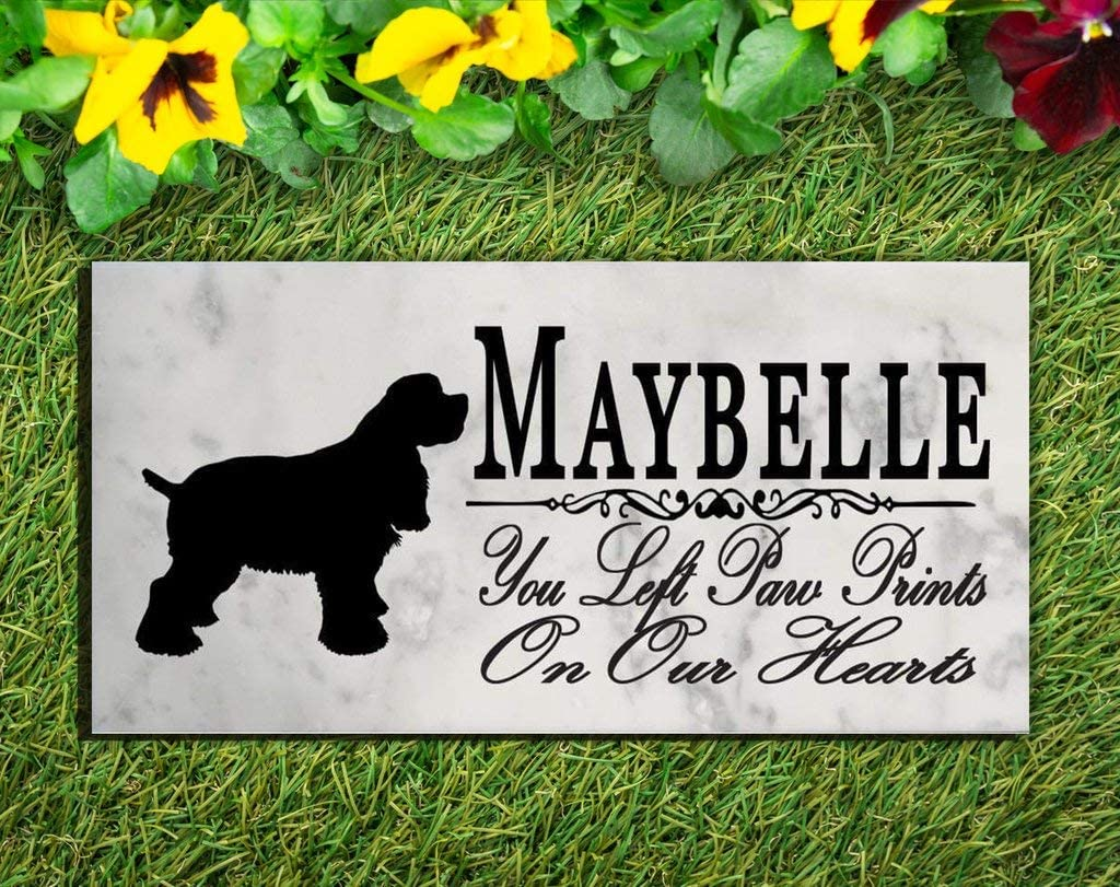 Broad Shipping included Bay Gifts Cocker Spaniel Dog Personalized Marker Stone Memorial