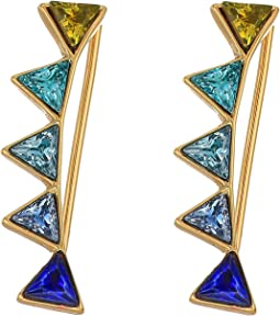 Rebecca Minkoff - Stacked Triangles Ear Climber Earrings