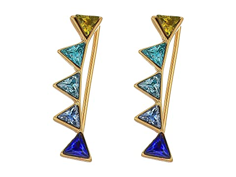 Stacked Triangles Ear Climber in Metallic Gold Rebecca Minkoff N0uPjo