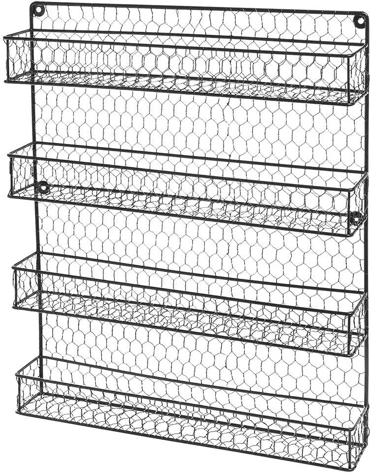 Spice Rack Online limited product Wall Mount 4 Tier Hanging The Over 67% OFF of fixed price S Door