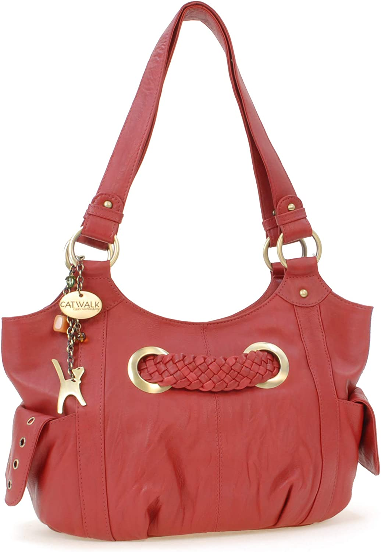 Catwalk Collection Handbags - Leder - Umhängetasche Schultertasche - MARIANNE MARIANNE MARIANNE B00C0C4F4S  Einfach zu bedienen 75559e