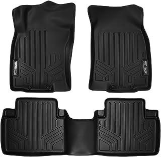 SMARTLINER Custom Fit Floor Mats 2 Row Liner Set Black for 2014-2019 Nissan Rogue (No Rogue Sport or Select Models)