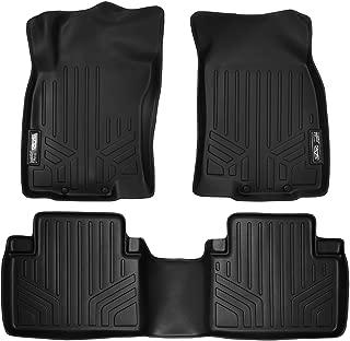 MAXLINER Custom Fit Floor Mats 2 Row Liner Set Black for 2014-2019 Nissan Rogue (No Rogue Sport or Select Models)