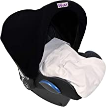 Dooky Hoody protección solar para portabebés de bebe o cochecitos de niño (diseño: Black, incl. protección UV 40+, grupo de edad 0+, universal adecuado para la mayoría de las marcas), Negro