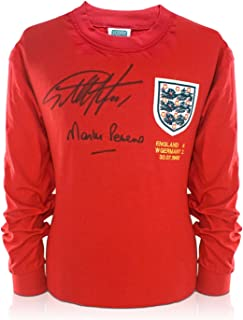 Sir Geoff Hurst And Martin Peters Signed England 1966 Soccer Jersey | Autographed Memorabilia