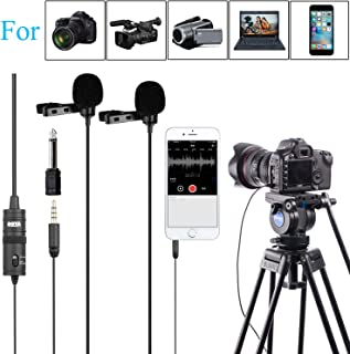 PC Microphone Dual-head Lavalier for Smartphones Cameras, 157 Inches/4m BOYA Universal Mic with 1/8 Adapter for iPhone X 8 7 Canon Nikon DSLR Camcorders Audio Recorder Podcast Youtube Video Livestream