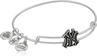 Alex and Ani New York Yankees Slider Charm Rafaelian Silver-Tone Bangle Bracelet