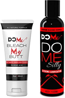 Intimate Lightening Cream Bundle Bleach My Butt + DO ME Silly - Silicone Lubricant 4oz