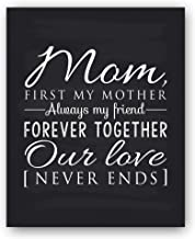 Mom Gift, Mom Quote Sign, Mom Chalkboard Print, Unique Gift for Mom and Mom Christmas Gift, Mom Wall Decor, Best Mom Gift, Mom Gift from Daughter, Mom Gift from Son -