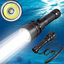 Goldengulf Cree XM-L2 Led Scuba Diving Flashlight Torch Underwater 100M Waterproof Submarine Light Rechargeable Battery an...