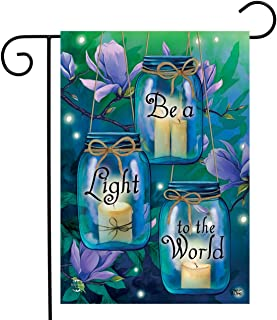 """Briarwood Lane Be A Light to The World Spring Garden Flag 12.5"""" x 18"""""""