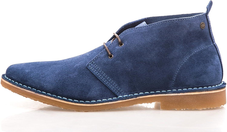 Jack & Jones GOBI Mens Suede Desert Boots Dark bluee