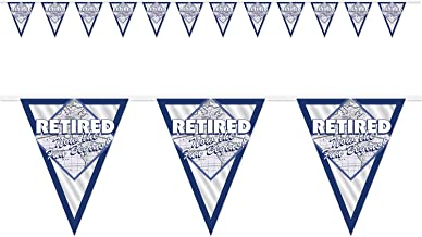 Beistle Retired Now The Fun Begins! Pennant Banner | Retirement Party Supplies (3-Pack)