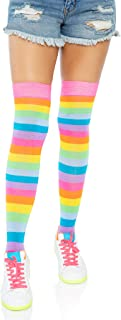 Leg Avenue Women's Neon Rainbow Thigh Highs,