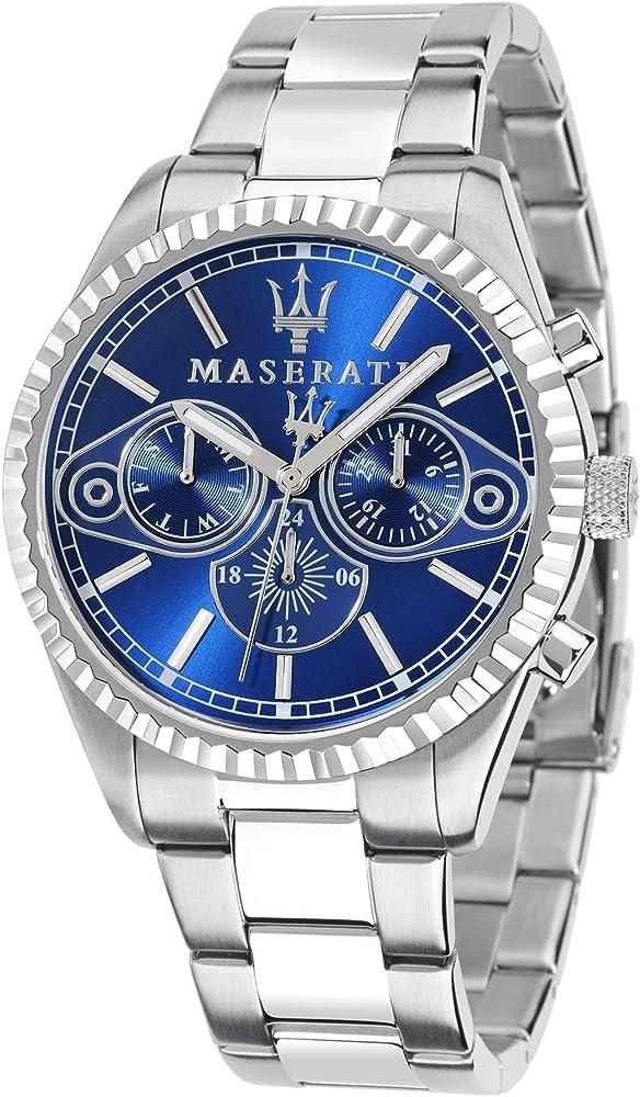 maserati orologio cronografo collezione competizione in acciaio inossidabile r8853100009