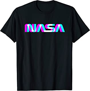 Classic NASA Worm Logo T-Shirt Space Aerospace Engineers