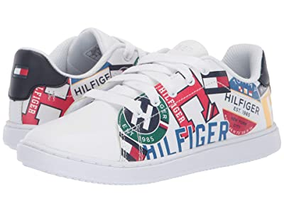 Tommy Hilfiger Kids Iconic Court (Little Kid/Big Kid) (Multi/White) Kid