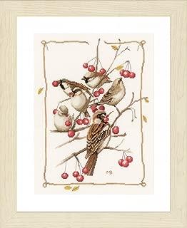 Lanarte Sparrows and Currant Bush Cross Stitch Kit