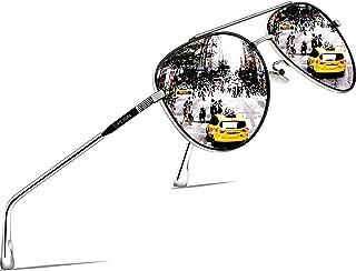 SIPLION Driving Polarized Sunglasses For Mens Womens Mirrored pilot Sun Glasses UV400 Protection