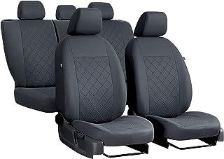 Sitzbezüge Auto Set Autositzbezüge Schonbezüge Vordersitze und Rücksitze   Airbag geeignet   Grau