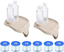 Intex PureSpa Tray Accessory (2 Pack) with Type S1 Replacement Filters (12 Pack)