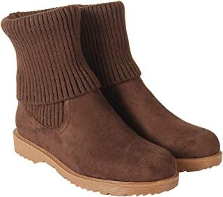 Flat n Heels Womens Brown Boots FnH 159-1-BRW