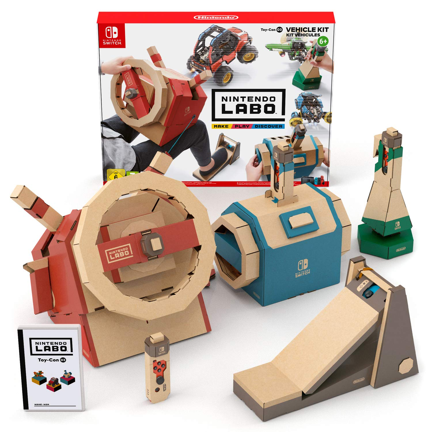 Switch Nintendo Labo: Toy-Con Kit de vehículos: Nintendo: Amazon ...