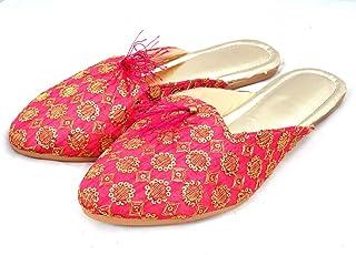 Indian Handicraft Synthetic Women/Girls Casual Flat/Jutti/Chappal Pink