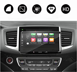 2016-2018 Pilot Ridgeline Navigation Screen Protector Center Touch Display Anti Scratch High Clarity Clear HD Tempered Glass Protective Film (2016-2018 Pilot 8 Inch)