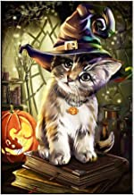 Sanwooden Let's Party Lovely Halloween Cat 5D Diamond Painting Cross Stitch DIY Hand Craft Wall Decor - 6452