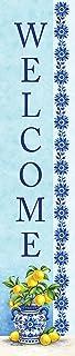 Custom Decor Yard Expression - Blue Willow & Lemons - Yard Expression Sign - 6 inch x 30 inch PVC Sign Licensed, Trademark...