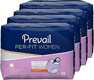 Prevail Per-Fit Extra Absorbency Incontinence Underwear for Women Extra Large 56 Count Breathable Rapid Absorption Discreet Comfort Fit Adult Diapers
