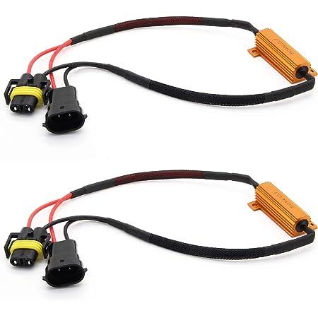 Adapter Universe 2x H8 H11 Led Smd Can Bus 50w Widerstand Set Auto Nebelscheinwerfer No Error 6ohm Auto