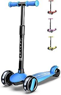 comprar comparacion Sawyer - Patinete Ajustable Ruedas LED - Niños 2 a 8 Años (Azul)