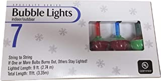 Indoor/Outdoor Bubble Light Set In Traditional Red/Green Combo