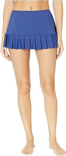 Solids Mid Waist Pleated Skirt Bottoms