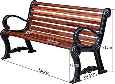 Household Products Outdoor Patio Benches, Carbon Fiber Plastic Wood Benches with Backrests, Outdoor Furniture Porch Benches,