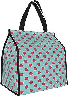 Y-shop Pop Art Retro Vintage Pin Up Girl Backdrop Inspired Modern Polka Dots Print Hot Pink and Baby Blue Picnic Freezer B...