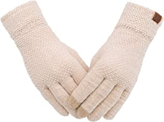 Women's Winter Touch Screen Gloves Chenille Warm Cable...